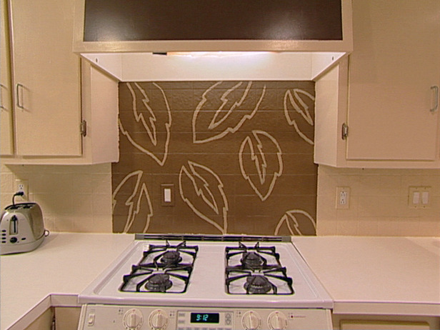 Hand-painted Kitchen Backsplash